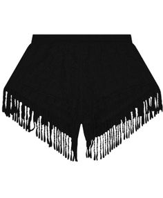 Korean Style Lace Tassels Loose Fit Shorts