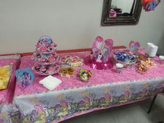 My little pony dessert table Dessert Table, Event Decor, My Little Pony, Toddler Bed, Events, Desserts, Home Decor, Child Bed, Tailgate Desserts