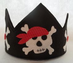 Felt Birthday Party Crown Pirates Hat Dress by thekidzclothesline, $19.99at etsy.com