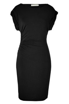 Black jersey dress...simple and classy