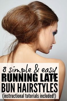 If you're looking for lazy hairstyles that allow you to skip the shampoo while still looking glamorous, this collection of bun hairstyles is just what you need to look AND FEEL fabulous! They make the perfect running late hairstyles - especially # 5!