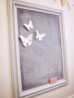 Magnetic Chalkboard DIY - like the frame