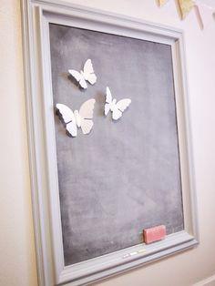 Magnetic Chalkboard DIY - like the frame