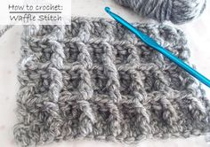 How to crochet The Waffle Stitch - Easy for begginers