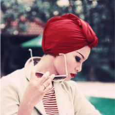 Turban style House of Honey Color Bar|Red