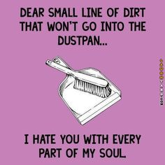 Dear small line of dirt--Get Outta Here!