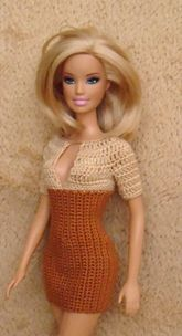 some of my crochet works for Barbie and other dolls