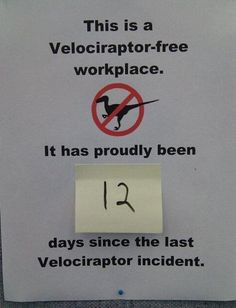 If I ever open my store, this is going on the front door. Aw, yeah. And then, I'll knit a velociraptor and bring it out every now and then.... :D