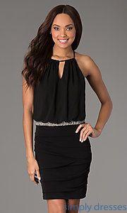 Buy Short Black Sleeveless Dress at SimplyDresses