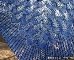 FREE pattern Frozen Leaves Lace Knit Shawl