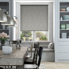 Choices Elcot Argent Roller Blind from Blinds 2go
