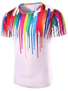 2019 Men/'s Luxury 3D Casual Long Sleeve Colorful Rainbow Shirts Dress Shirt Top
