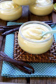 Petits pots de crème vanille vegan sans gluten