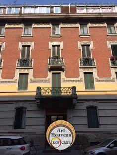 art nouveau building milan