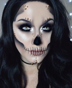 60 Terrifyingly Cool Skeleton Makeup Ideas To Try For Halloween Makeupideasdia