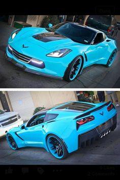 Teal Corvette Jeep, Lamborghini, Ferrari, Chevrolet Corvette, 2014 Corvette Stingray, Corvette Zr1, 2013 Corvette, C7 Stingray, Transporter