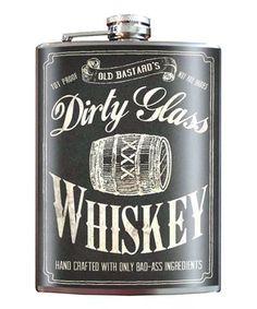 Look what I found on #zulily! Trixie & Milo 'Dirty Glass Whiskey' 8-Oz. Stainless Steel Flask by Trixie & Milo #zulilyfinds
