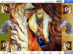 MIXEL:)Portrait of the Horse.