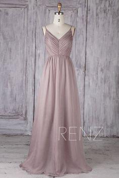 Bridesmaid Dress Rose Gray Chiffon DressWedding