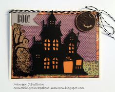 Let's Give 'em Something to Scrap About!: September Card and Treat Class 9/29/13 #B1429EekAndShriek #Artbooking