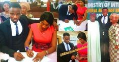 So it seems as though one of Big Brother Naija Double Wahala housemate Dee-One is a married man Below are photos of what looks like his court wedding photos and a marriage certificate.  Recall when he was walking into the house the Comedian revealed that he was in a very serious relationship but he never revealed that he was married. Below are photos of his marriage certificate as well as photos of himself and his bride at the registry together with both their parents. The Certificate of…