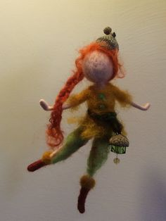 Needle felted Fairy Waldorf inspired Wool forest fairy Elf Mobile Art doll Home…
