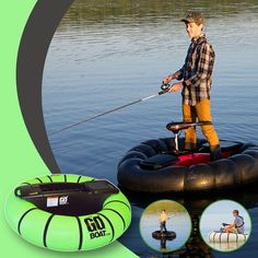 Easily go solo fishing on this inflatable boat! 🚣👍 Water Activities, Outdoor Activities, Inflatable Boat, Cool Gadgets To Buy, 3d Home, Water Toys, Camping Survival, Water Crafts, Outdoor Fun