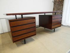 Vintage Rosewood Executive desk by Robin Day For Hille Heals Conran | eBay