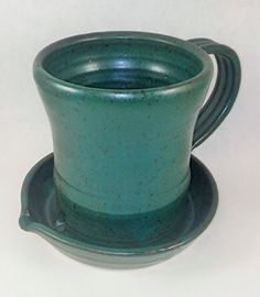 Original bacon cooker – Healthier solution to cooking bacon by dripping away the fat. Color: Green with a glazed finish – Can be used in your microwave or oven – Dishwasher safe. Handmade pottery clay – Drape bacon over the cup – Base is a grease catcher. Bacon... see more details at https://bestselleroutlets.com/home-kitchen/kitchen-dining/bakeware/product-review-for-aunt-chris-pottery-heavy-hand-made-clay-bacon-cooker-unique-new-way-of-cooking-