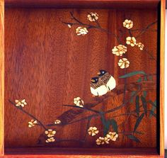 Tea Tray with marquetry a perfect Valentine gift by Oahzmit