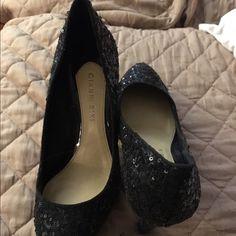 Black sequin heals Black sequins in good condition 3 in heals Gianni Bini Shoes Heels