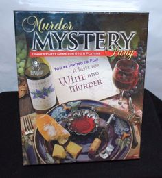 MURDER MYSTERY WINE DINNER PARTY FAMILY BOARD GAME HOLIDAY ACTIVITY (NEW SEALED)