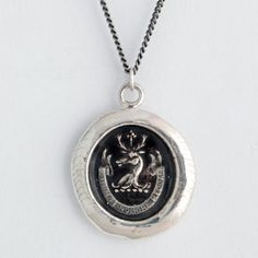 Pyrrha's 'Tutum Te Robore Reddam' Safety by Strength Necklace....a personal 'patronus charm'