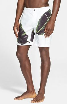ONIA+'Calder'+Leaf+Print+Swim+Trunks+available+at+#Nordstrom