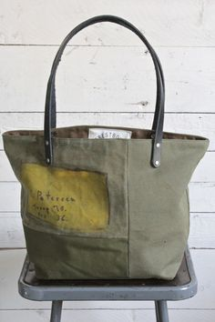 6ce32f60a3e2 WWII era US Military Canvas Tote Bag - FORESTBOUND Us Military