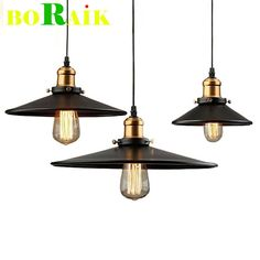 Loft RH Industrial Warehouse Pendant Lights American Country Lamps Vintage Lighting for Restaurant/Bedroom Home Decoration Black-in Pendant Lights from Lights & Lighting on Aliexpress.com | Alibaba Group