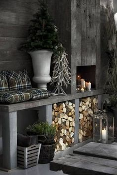 33 Stylish Shades Of Grey Christmas Decor Ideas Home Decor Bedroom, Living Room Decor, Diy Home Decor, Outdoor Spaces, Outdoor Living, Decoration Shabby, Winter House, Winter Cabin, Cozy Winter