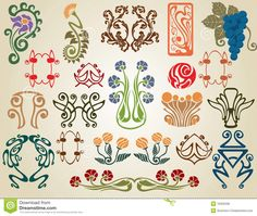 Art Nouveau Flowers Plants - Download From Over 28 Million High Quality Stock Photos, Images, Vectors. Sign up for FREE today. Image: 16302336
