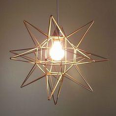 DIY Geometric Moravian Star Pendant Light! (Oof. That's a mo... | Pretty Little Lady Design | Bloglovin