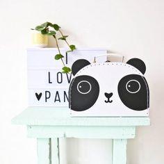 Valise panda Aiko kawaii en carton L