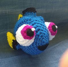 #crochet, free pattern, amigurumi, fish, Baby Dory, stuffed toy, #haken, gratis patroon (Engels), vis, knuffel, speelgoed, #haakpatroon