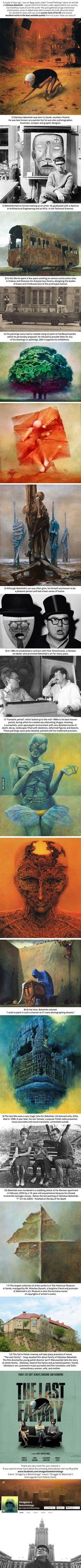 12 facts you should know about Zdzisław Beksiński and some of his surreal paintings