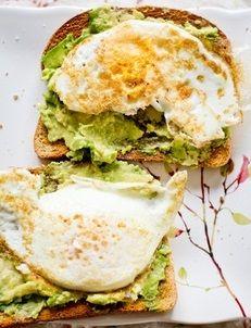 Avocado & eggs sandwich