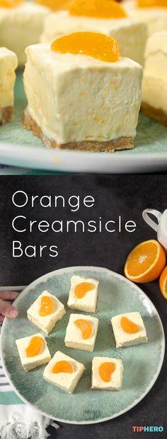 Orange Creamsicle Bars Recipe | This cool dessert screams summer! So yummy and…