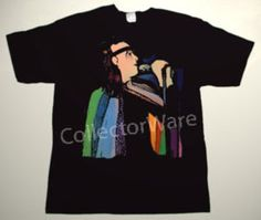 GENESIS Peter Gabriel drawing 41 CUSTOM ART UNIQUE T-SHIRT  Each T-shirt is individually hand-painted, a true and unique work of art indeed!  To order this, or design your own custom T-shirt, please contact us at info@collectorware.com, or visit  http://www.collectorware.com/tees-genesis_andrelated.htm