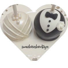 Bride and Bloom cake pops by SweetBitesBrooklyn on Etsy