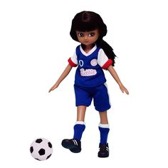 Girls United: football Lottie Dolls Clothes and Outfits. Lottie and her friends have an all-girl soccer team. Who will score the winning goal?