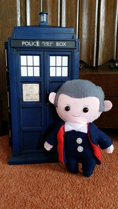 12th Doctor who felt plushie plush Peter by SuzisGeekeryCrafts