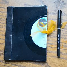 How to make a vinyl record notebook!