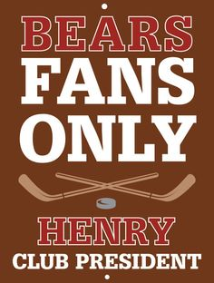 Bears Custom Personalized Bar Sign  by thepersonalizedstore #ManCave #FathersDay #Groomsmen